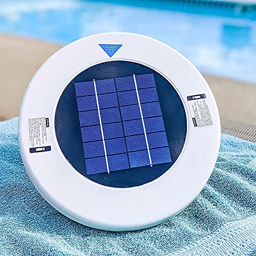NMHSC Depuratore per Piscina, Ionizzatore Solare per Piscina Purificatore Dacqua a Shock Solare Senza Cloro Ad Alimentazione Solare per Il Trattamento di Vasche Idromassaggio per Piscine Termali