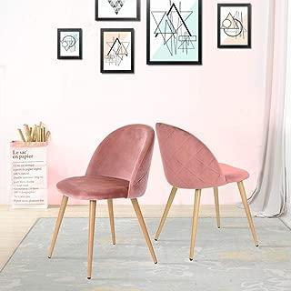 CLIPOP Juego de 2 sillas de Comedor tapizadas de Terciopelo