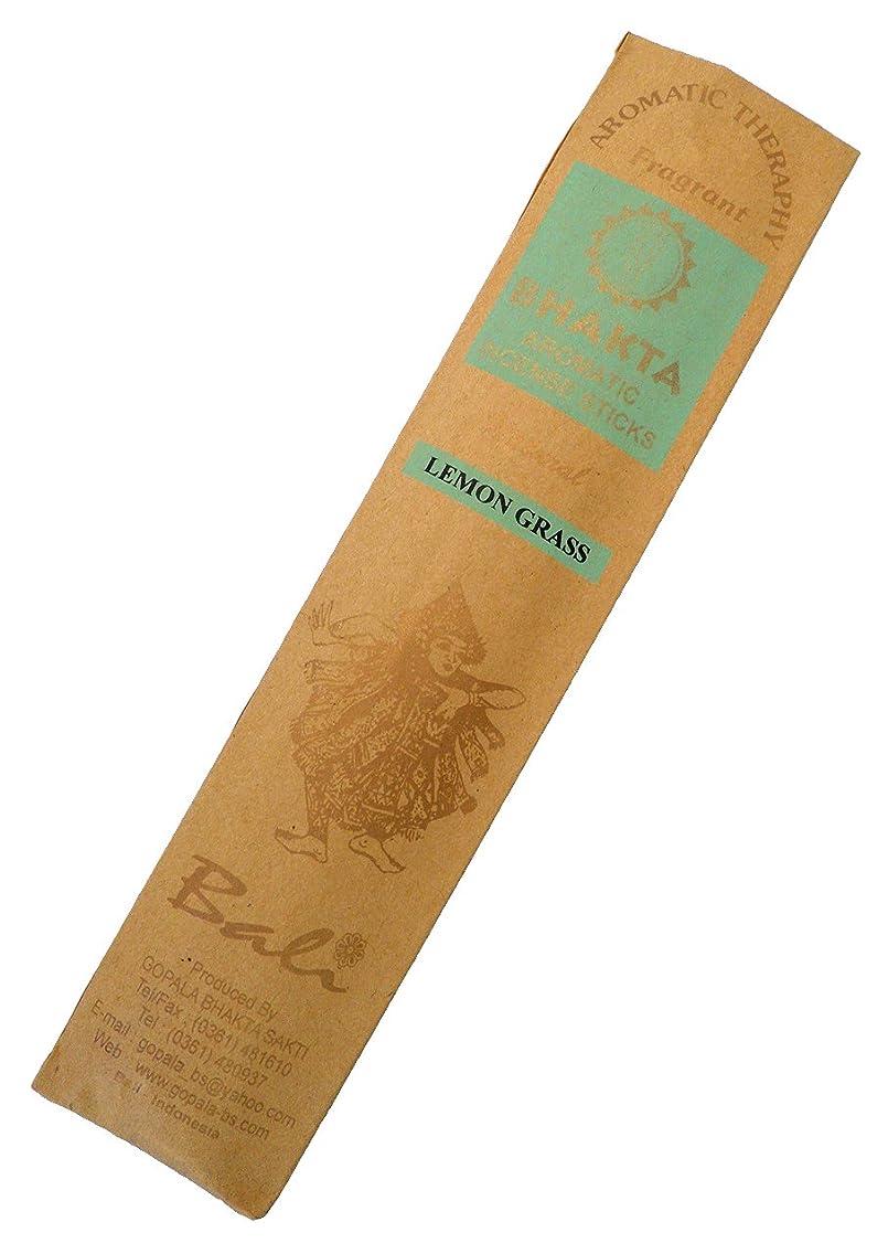世紀遅いいわゆるお香 BHAKTA ナチュラル スティック 香(レモングラス)ロングタイプ インセンス[アロマセラピー 癒し リラックス 雰囲気作り]インドネシア?バリ島のお香