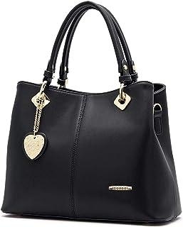 BUKESIYI Damen Tasche Umhängetasche Handtasche Frauen Klein Schultertasche Weekender Lack PU Leder CCDE77500
