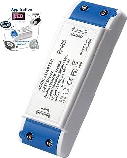 Transformator LED 60 W, zasilacz LED 60 W zasilacz sterownika LED 12 V DC 5 A - stałe napięcie do lamp LED pasków, lamp sz...