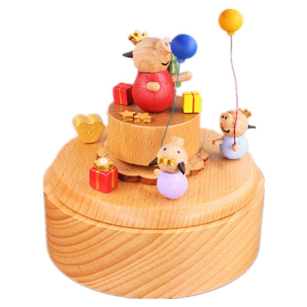 Regalos de la caja La caja de música creativa del regalo de cumpleaños feliz del tiempo