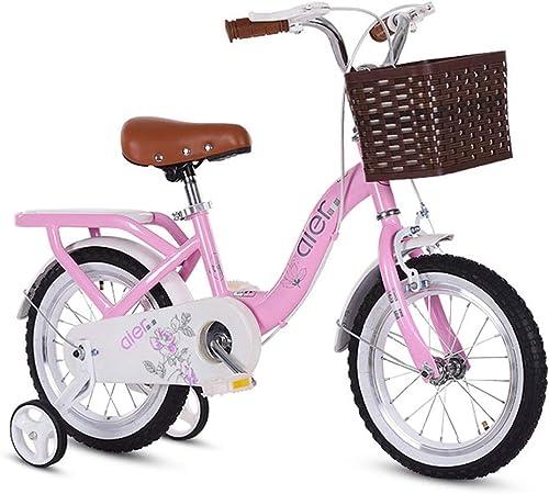 Kinderfahrrad Prinzessin Student Fahrrad Kind Fahrrad 14 16 18 Kinder Fahrrad Kinderfahrrad (Farbe   Rosa, Größe   A)
