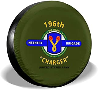 CHUYUNPENGtai 196 Infantry Brigade Vietnam Spare Tire Cover Tire Protective Cover Spare Tire Wheel Cover for Car SUV