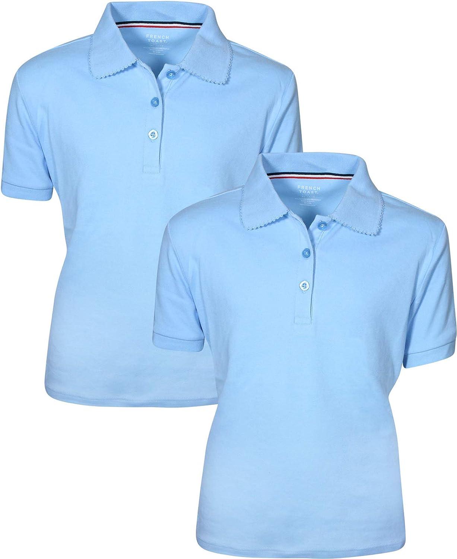 French Toast Girls Uniform Polo 2 Pack Short Sleeve Interlock