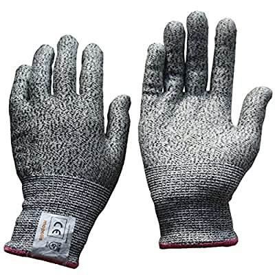 MOPOLIS Cut Resistant Gloves - Cut Protection - Level 5, Food Grade, Knife Hand Protection, Safety Cutting Gloves, EN388 Certified, Dyneema Fabric