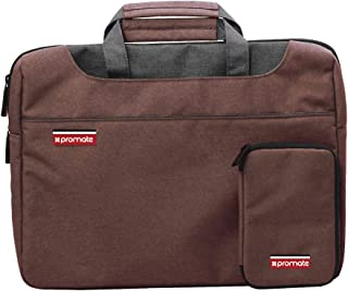 Promate Messenger Bag with Elegant Classic Design for 15-Inch Laptop, Desire-L Brown
