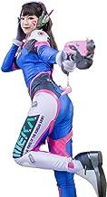 Overwatch D.VA Hana Song Bodysuit, Officially Licensed by Blizzard, Halloween Women Cosplay Jumpsuit Costume