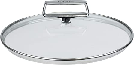 "CRISTEL, Tempered Glass Lid, Oven proff and dishwasher safe, Castel'Pro collection, MADE IN France 10""."