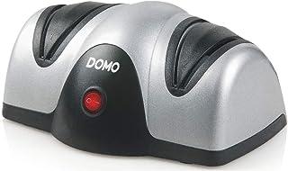 Domo DO9204KS Afilador de cuchillos, plástico, negro/plateado
