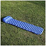 Moda Día-pillowOutdoor lo más Ligero Zi neumática/Acampar Humedad Pad/for Acampar al Aire Libre (una Variedad de Colores Disponibles) (Color : Navy)