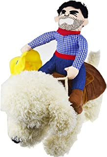 OLizee Trade;Pet Dog Halloween Cowboy Funny Costume Dog Riders Clothes