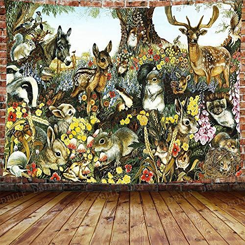 Puzzle 1000 piezas Psicodélico pulpo koi pez conejo niebla dibujos animados oso animal pintura decorativa puzzle 1000 piezas adultos Juego de habilidad para toda la familia, c50x75cm(20x30inch)