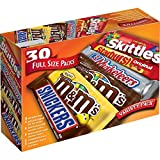 Mars M&M'S, SNICKERS, 3 MUSKETEERS, SKITTLES & STARBURST Full Size Chocolate Candy Variety...