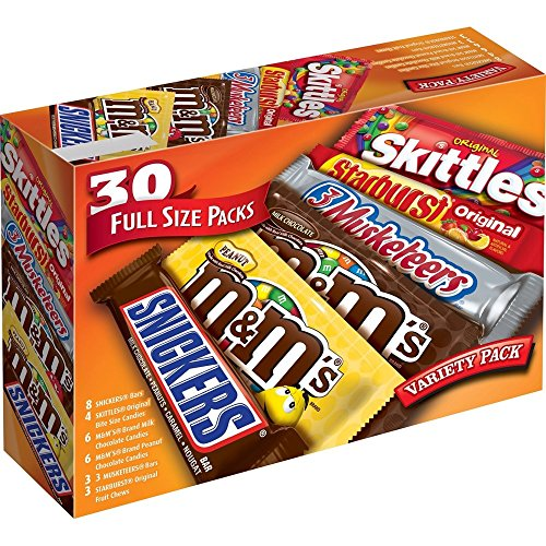 Full size chocolate candy variety mix