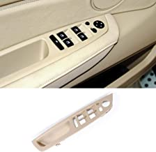 TTCR-II for BMW X5 X6 Door Handle Driver Seat, Window Switch Panel Cover Trim for BMW X5 2008-2013 and BMW X6 2008-2014 (Beige, Driver Side)