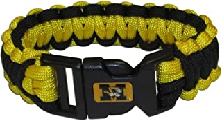 Missouri MIZZOU Tigers NCAA Team Colors Paracord Survival Style Bracelet