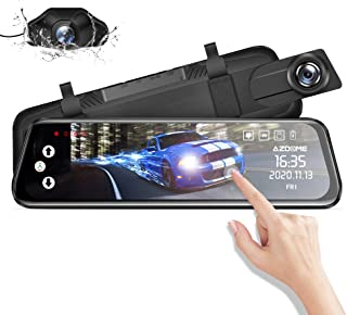 """Mirror Dash Cam for Car, AZDOME 10"""" Touch Screen ,1080P HD,170 °Wide Angle, Front and Rear Car Camera with WDR, Night Visi..."""