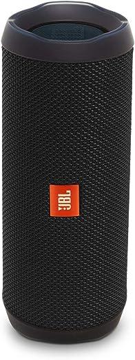 JBL Flip 4 by Harman Portable Wireless Speaker with Powerful Bass & Mic (Black)