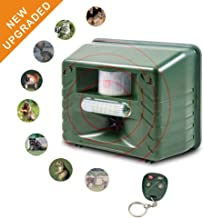 ColorFODA Ultrasonic Outdoor Animal Repeller,Flashing LED Lights,Eco Friendly Animal Management Without Traps