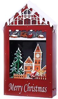 SSBH 66cm de neige de Noël Musique Fenêtre Décoration Maison Neige, Décoration de Noël Snow House Mall Hôtel Bar festival ...