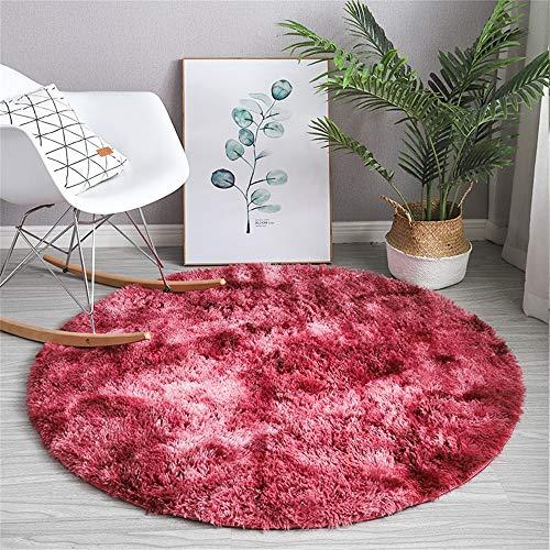 ZPEE Circular Velvet Rugs,Ultra Soft Shaggy Home Decor Carpets Shag Carpets,Boys Grills Room Nursery Rug Floor Carpet,Living Room Chair Cushion
