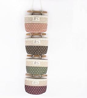 La bolsa de lino bolsillos colgantes para puerta de la pared del organizador del almacenaje Armario Tidy Decoraci-Tipo A