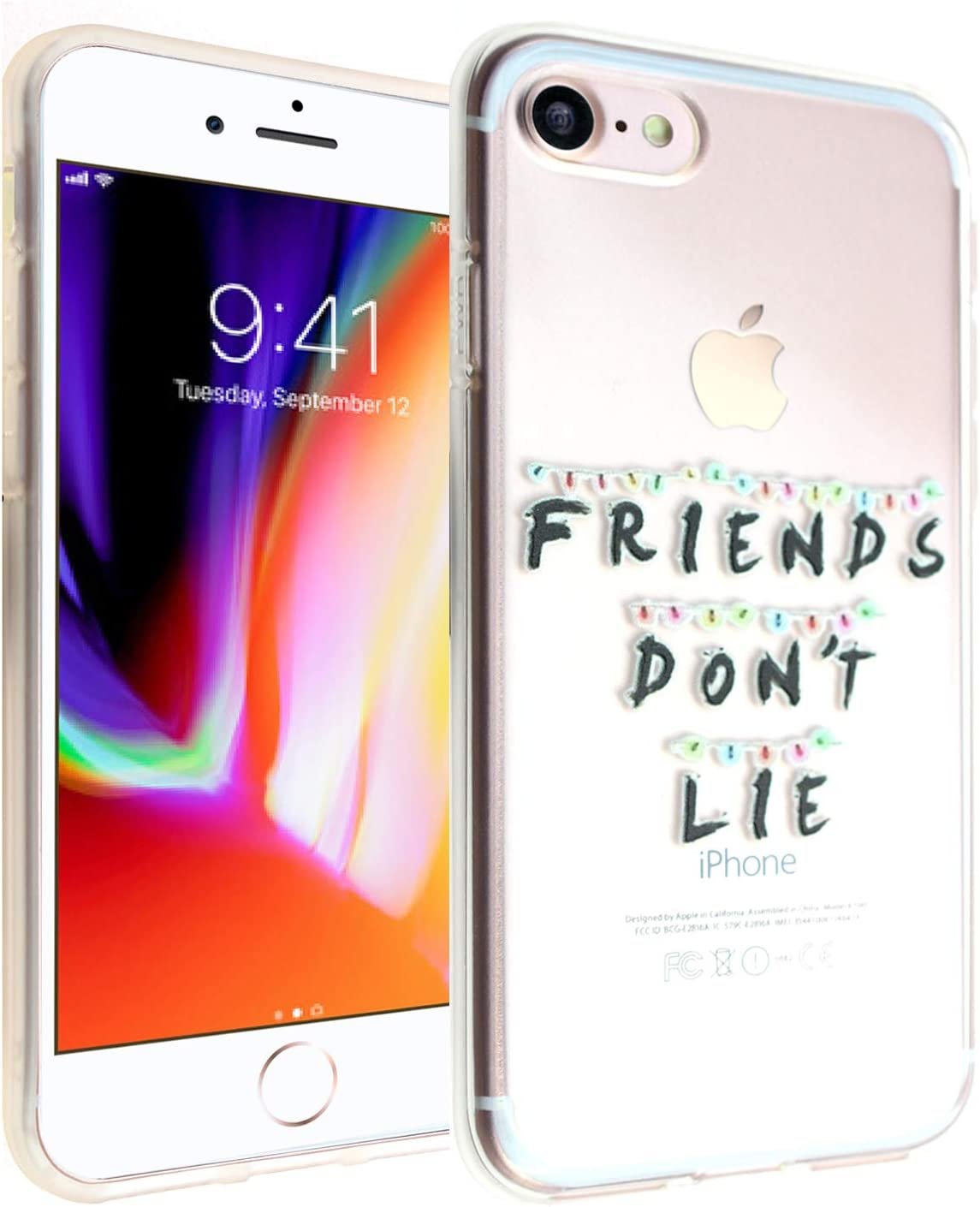 CASEMPIRE iPhone 6/6S Stranger TPU Case Shock Proof Never Fade Slim Fit Cover for iPhone 6 6S Friends Don't Lie Christmas Light