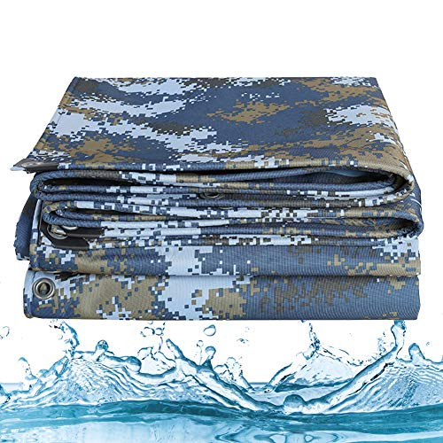 ALGFree Tarpaulin Waterproof heavy duty Garden Furniture Cover Waterproof Tarpaulin UV Resistant Outdoor Terrace, 23 Size (Color : Green, Size : 6x8m)