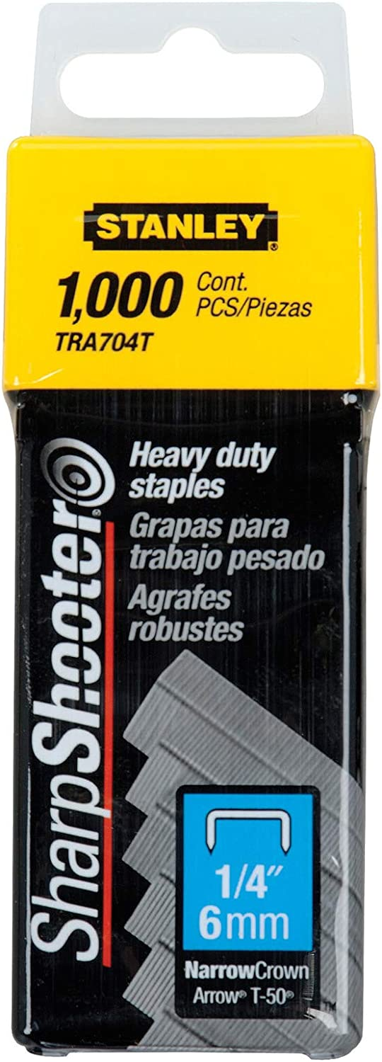 Stanley TRA704T 1 4-Inch Heavy 1000 of Mail order cheap Fees free Pack Staples Duty
