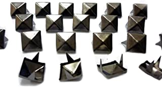 Flameer 100 Pieces Metal Star Studs Rivets Claw Nailheads Leathercraft Punk for Bags Jeans Belt Decoration