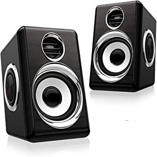 Boomer VIVI Computer Speakers, USB Powerd Wired Speaker 5Wx2, Stereo 2.0 Deep Bass in Small Body, 3.5mm Aux Multimedia Spe...
