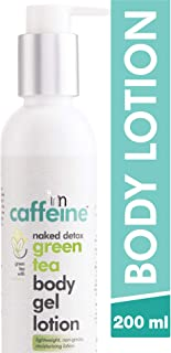 MCaffeine Naked Detox Green Tea Body Gel Lotion ( Hydration | Vitamin C, Shea Butter | Oily Skin | Paraben and Mineral Oi...