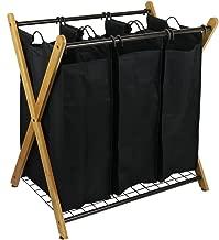 Oceanstar Bamboo 3-Bag Laundry Sorter