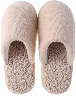 SalLady Home Slippers Plush Nonslip Thickened Warm Universal Nonskid Soft Unisex Winter Slides for Home Furry Fluffy