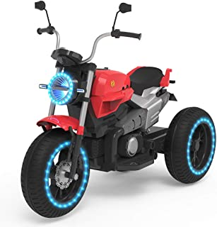 HOVERHEART Kids 3 Wheels Electric Tricycle Ride on Motorcycle 6V Battery Powered (Red)