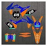 Wjyfexble Motorcycle 3m Gráficos Calcomanías Pegatinas Kits para KTM SX SXF 125 200 250 300 400 450 2011 2012 DC Exc-F 2012 2013 WYJHN (Color : Pale Pinkish Gray)
