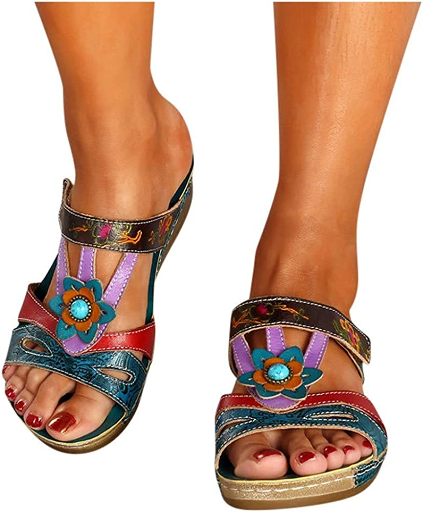 LowProfile Summer Special price for a limited time Bohemian Ethnic Style Quality inspection Comfo Women Sandals