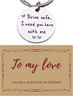 Drive Safe I Need You Here With Me Keychain Gifts For Boyfriend