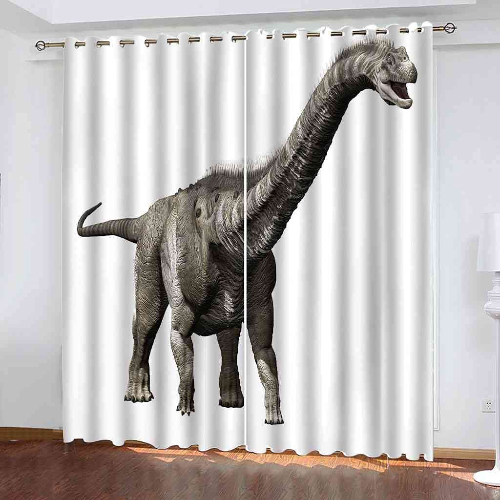 BXXYXH Bedroom Blackout Eyelet Curtains 3 All stores All items in the store are sold Dinosaur Print Vintage