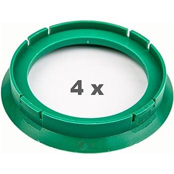 4 x Zentrierringe 72.5 auf 69.1 gr/ün//green