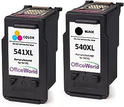 OfficeWorld Remanufactured Canon PG-540 CL-541 Cartouches d'encre PG-540XL CL-541XL pour Canon PIXMA MG4250 MG3550 MG3650 MX475 MG3150 MG3600 MG2250 MG3250 MG4150 MG2150 MG2200 MG3100