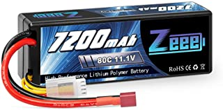 Zeee 11.1V 7200mAh 80C 3S Lipo Battery with Deans Connector Hardcase Battery for RC Car RC Truck RC Boat Traxxas LOSI Associated Racing Hobby