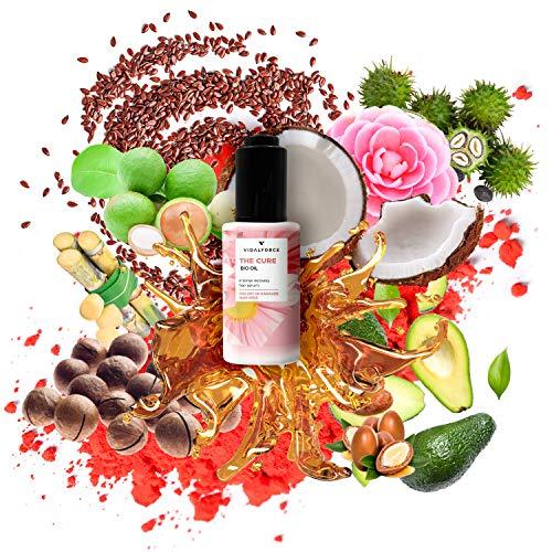 The Cure Oil, Serum pelo seco y dañado con 11 aceites para el pelo como la Astaxantina, Aceite de Coco para el cabello o Aceite de Argan | Antiencrespamiento cabello | protector termico cabello 30ml