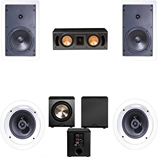 Klipsch R-1650-W In Wall #1 5.1 Home Theater System(RC-42II)-FREE PL-200