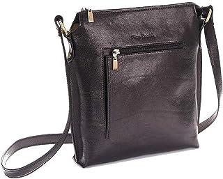 Pierre Cardin Bandolera para hombre de piel auténtica fabricada en Italia. Bolso fino, cómodo y elegante.