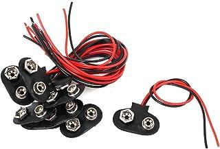 10pcs 15cm cuero de imitación clips Pila cuadrada 9V Conectores hebillas DIY