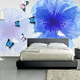 LIVEXZ DIY,3D Abstract Wallpaper Butterfly Flower Photo Mural Living Room TV Background Wall Decor