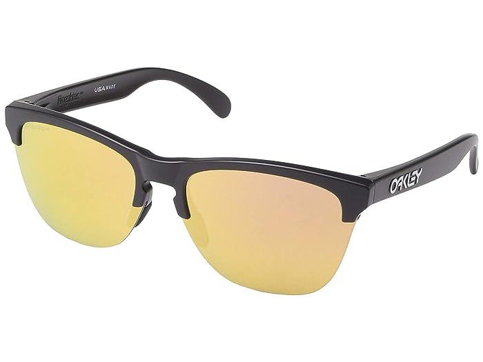 Oakley Frogskins Lite (Matte Black) Sport Sunglasses