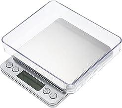 Balance de cuisine, Smart Weigh Balance de cuisine et de nourriture et bijoux avec plateau en acier inoxydable, avec 2 pla...